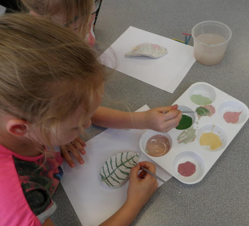 Children at work creating